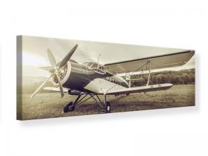 Ljudabsorberande panorama tavla - Nostalgic Aircraft In Retro Style - SilentSwede