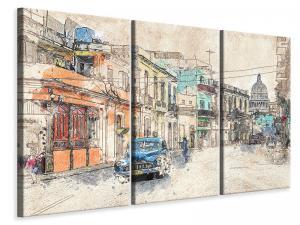 Ljuddämpande tavla - Painting vintage cuba - SilentSwede