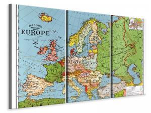 Ljuddämpande tavla - Map europe - SilentSwede