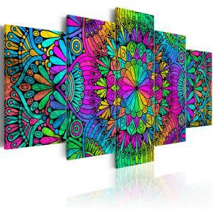 Ljuddämpande tavla - Mandala: Peacock Feathers - SilentSwede