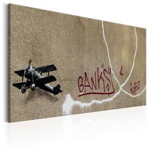 Ljuddämpande & ljudabsorberande tavla - Love Plane by Banksy - SilentSwede