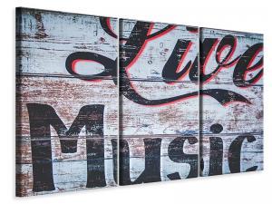 Ljuddämpande tavla - Retro wooden wall - SilentSwede