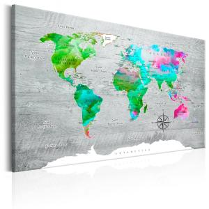 Ljuddämpande & ljudabsorberande tavla - World Map: Green Paradise - SilentSwede