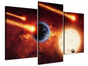 Ljudabsorberande modern 3 delad tavla - The Cosmos - SilentSwede