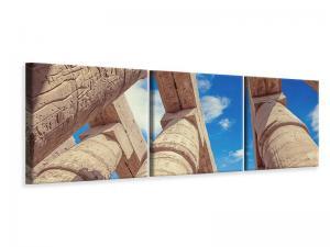 Ljudabsorberande panorama 3 delad tavla - Temple Columns - SilentSwede