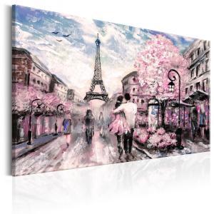 Ljuddämpande & ljudabsorberande tavla - Pink Paris - SilentSwede