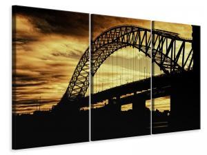 Ljuddämpande tavla - Bridge in the evening light - SilentSwede