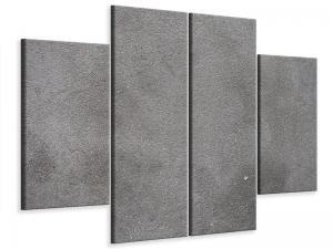 Ljudabsorberande 4 delad tavla - Concrete In Dark Grey - SilentSwede