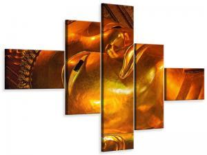 Ljudabsorberande 5 delad tavla-Horizontal Buddha - SilentSwede