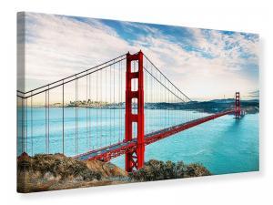 Ljudabsorberande tavla - Red Golden Gate Bridge - SilentSwede