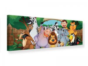 Ljudabsorberande panorama tavla - Funny Zoo - SilentSwede