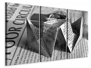 Ljuddämpande tavla - Origami newspaper - SilentSwede