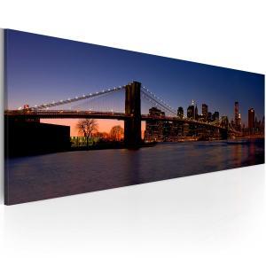 Ljuddämpande & ljudabsorberande tavla - Brooklyn Bridge - panorama - SilentSwede
