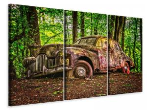 Ljuddämpande tavla - Abandoned classic car - SilentSwede