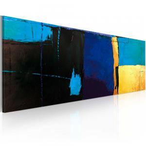 Ljuddämpande handmålad tavla - Fascination den blå färgen - SilentSwede