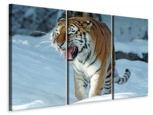 Ljuddämpande tavla - Tiger in the snow - SilentSwede