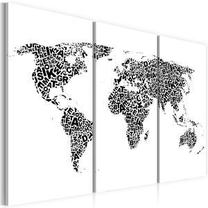 Ljuddämpande tavla - Världskartan - alfabetet - SilentSwede
