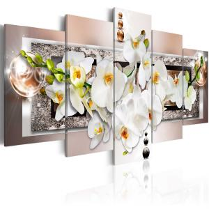 Ljuddämpande tavla - White abstract orchid - SilentSwede