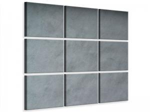 Ljudabsorberande 9 delad tavla - Dark Gray Wall - SilentSwede