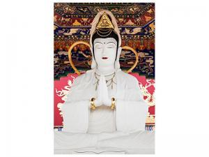 Ljudabsorberande tavla-Meditating Buddha Statue - SilentSwede