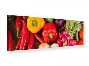 Ljudabsorberande panorama tavla - Healthy Vegetables - SilentSwede