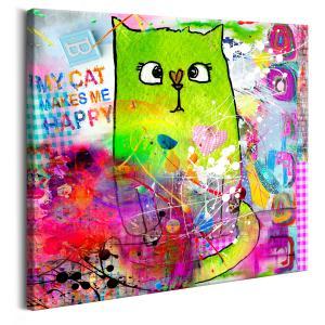 Ljuddämpande tavla - Crazy Cat - SilentSwede