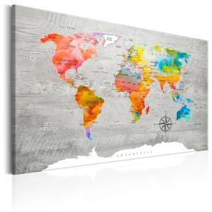 Ljuddämpande & ljudabsorberande tavla - Multicolored Travels - SilentSwede