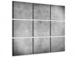 Ljudabsorberande 9 delad tavla - Gray Wall Shades - SilentSwede