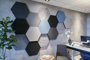 ljudabsorbent till vägg, honey, oklädd yta