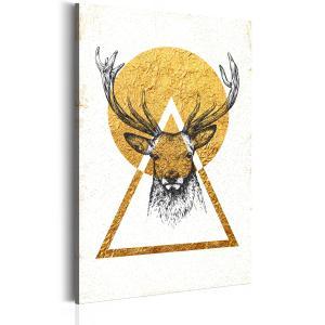 Ljuddämpande & ljudabsorberande tavla - My Home: Golden Deer - SilentSwede
