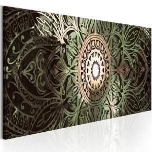 Ljuddämpande tavla - Emerald Mandala - SilentSwede