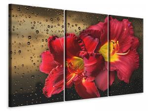 Ljuddämpande tavla - Lily flowers with water drops - SilentSwede