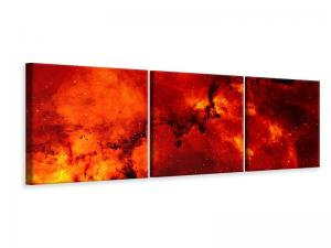 Ljuddämpande tavla - Red starry sky - SilentSwede