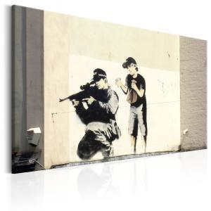 Ljuddämpande & ljudabsorberande tavla - Sniper and Child by Banksy - SilentSwede