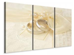 Ljudabsorberande 3 delad tavla - Wedding Rings - SilentSwede