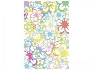 Ljudabsorberande tavla - Retro-Style Flower - SilentSwede