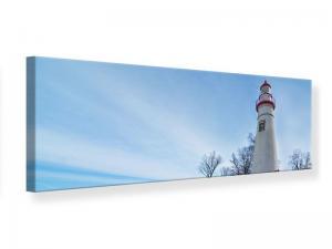 Ljudabsorberande panorama tavla - Lighthouse In Snow - SilentSwede
