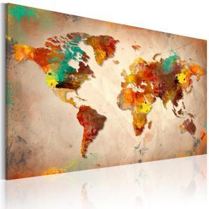 Ljuddämpande & ljudabsorberande tavla - Painted World - SilentSwede