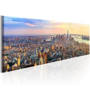 Ljuddämpande & ljudabsorberande tavla - New York Panorama - SilentSwede