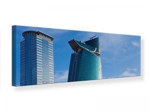 Ljudabsorberande panorama tavla - Two Skyscrapers - SilentSwede