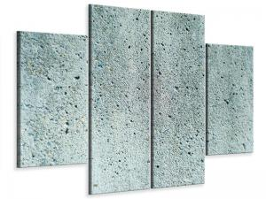 Ljudabsorberande 4 delad tavla - Concrete Gray - SilentSwede