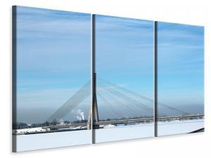 Ljuddämpande tavla - Bridge in the snow - SilentSwede