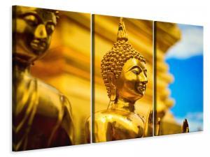 Ljuddämpande tavla - The golden buddhas - SilentSwede