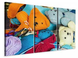 Ljuddämpande tavla - Knitted teddies - SilentSwede