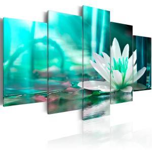 Ljuddämpande tavla - Turquoise Lotus - SilentSwede