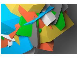 Ljudabsorberande tavla-3D-Geometric Figures - SilentSwede