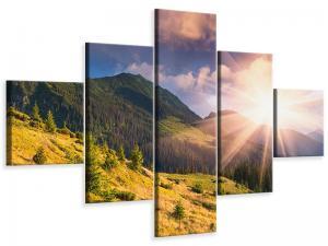 Ljudabsorberande 5 delad tavla-Beginning Of Autumn - SilentSwede
