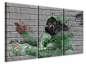 Ljuddämpande tavla - Graffiti gas mask - SilentSwede