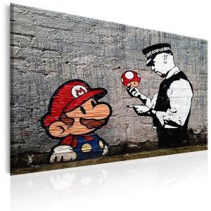 Ljuddämpande tavla - Mario and Cop by Banksy - SilentSwede