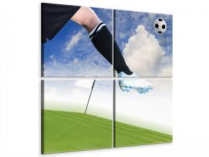 Ljudabsorberande 4 delad tavla - Football Kicker - SilentSwede